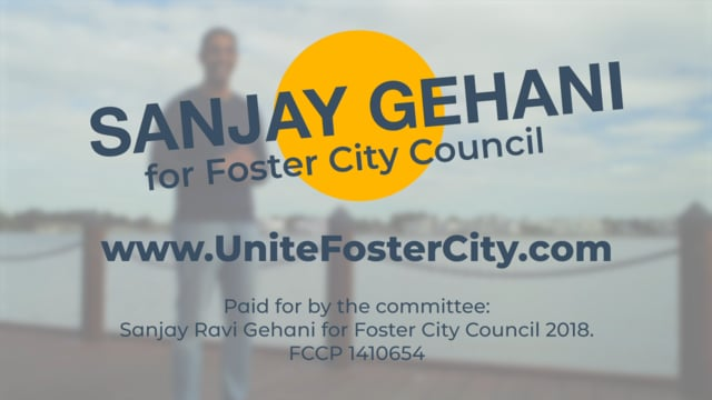 Sanjay Gehani was recently elected to Foster City, City Council