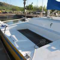 Pravnava a very fast 38 foot trimaran for sale: Our commission goes right to our non profit WorldsAquarium