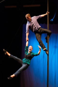 Duo Straight Up performs at SANCA's Circus Festival in August 2014.