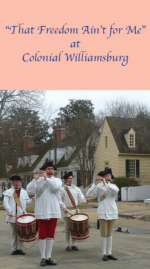 Residents of #ColonialWilliamsburg wonder what the Declaration of Independence means for them.