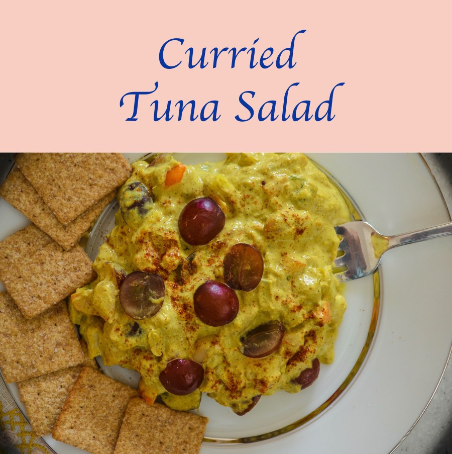 Don't you just love it when people really enjoy your recipes?  Last month, I brought my Tuscan #tuna #salad and my (mother's) #curry #dip to share with some friends at an outdoor concert.  They liked them both but liked them even more when they combined them on their plates.  So it left me no choice but to develop this recipe.  It's been a bit hit; I hope you enjoy it too.