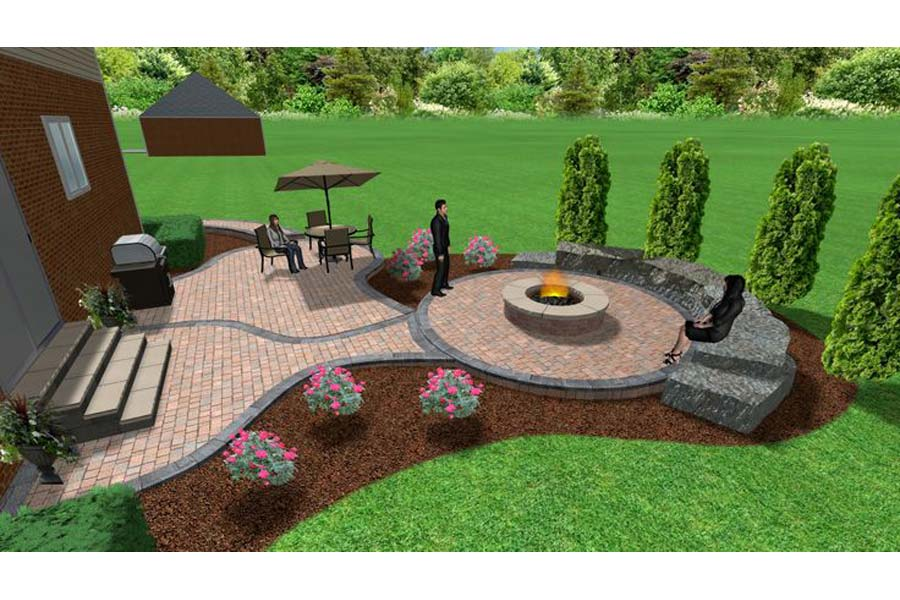 Brick Fire Pit: Home-Like Feeling In Your Garden | Fire ... on Garden Ideas With Fire Pit id=18638