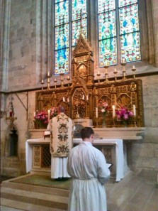 Mass for the emd of the semester at the Sacrament Altar in Heiligenkreuz