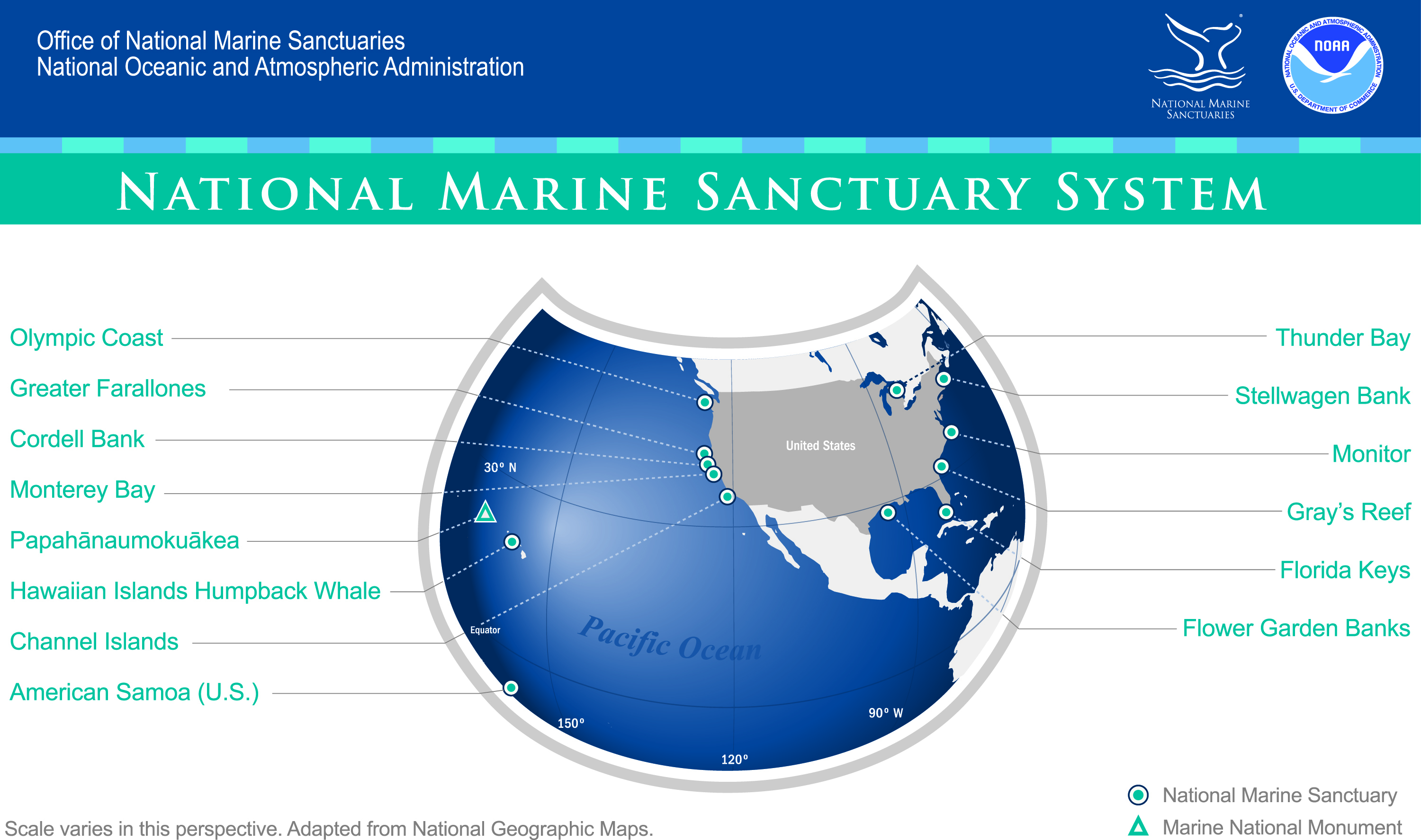 Exploring The National Marine Sanctuaries A Lesson In