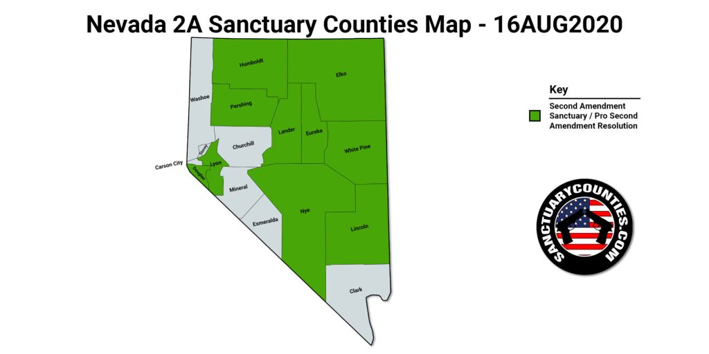 Nevada 2A Sanctuary Counties Map