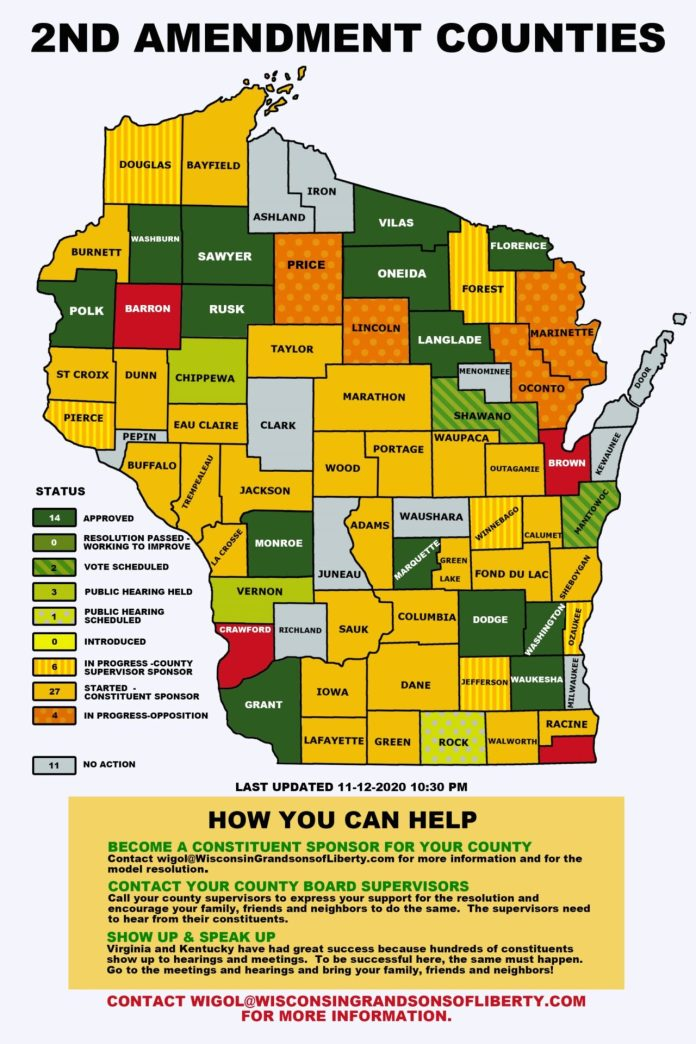 Wisconsin Second Amendment Sanctuary Map