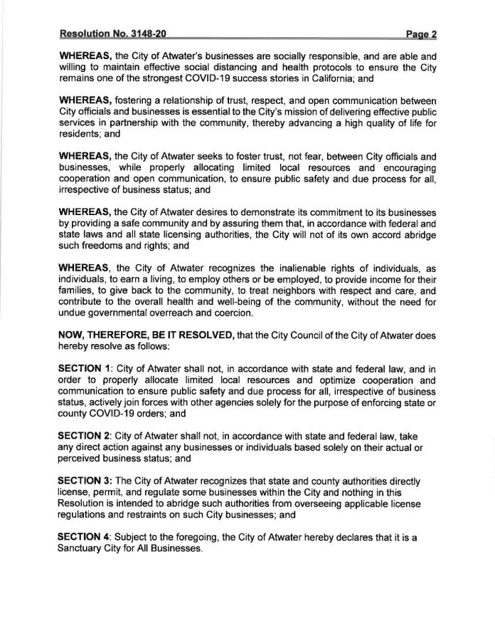 Atwater Resolution No. 3148-20 - pg 2