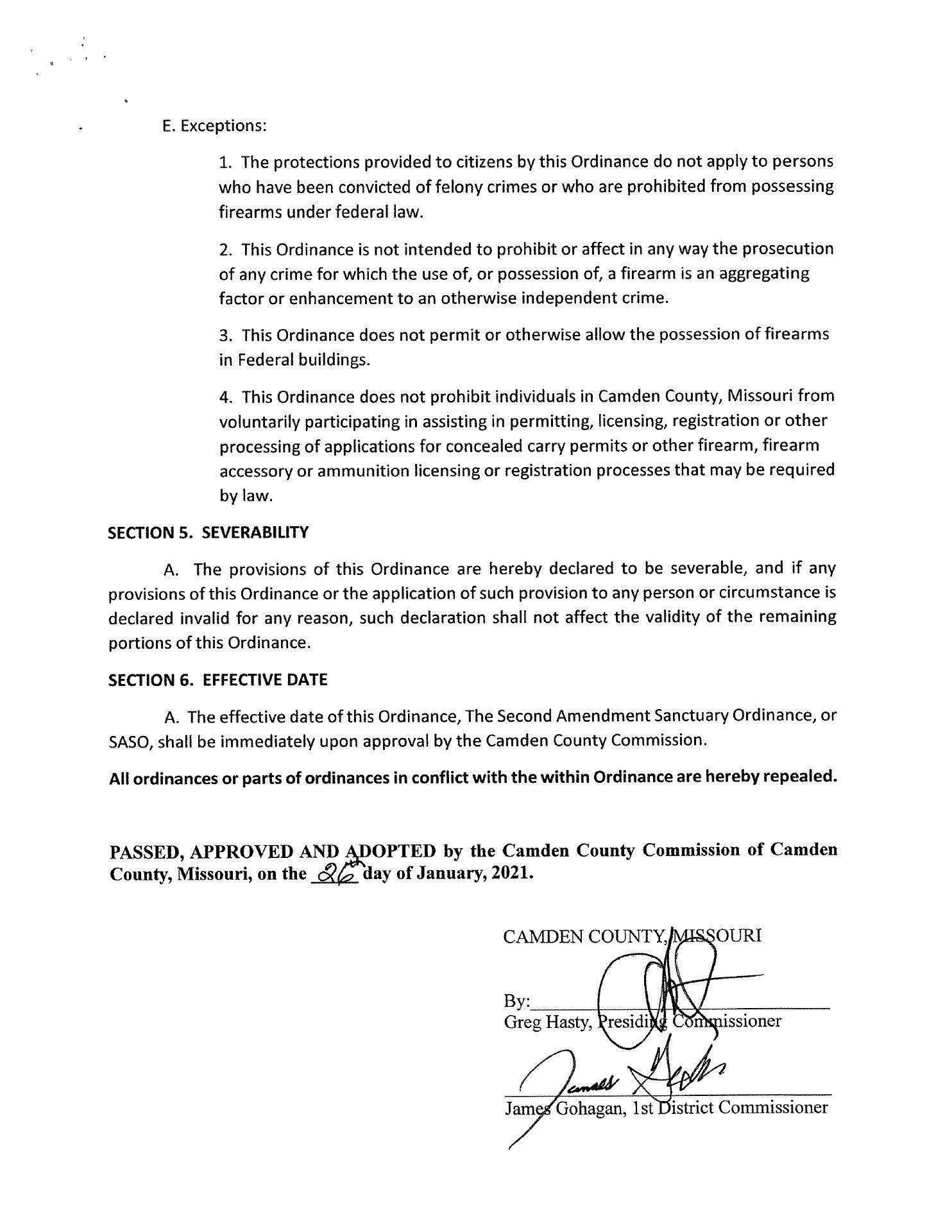Camden County Second Amendment Sanctuary Ordinance pg-4