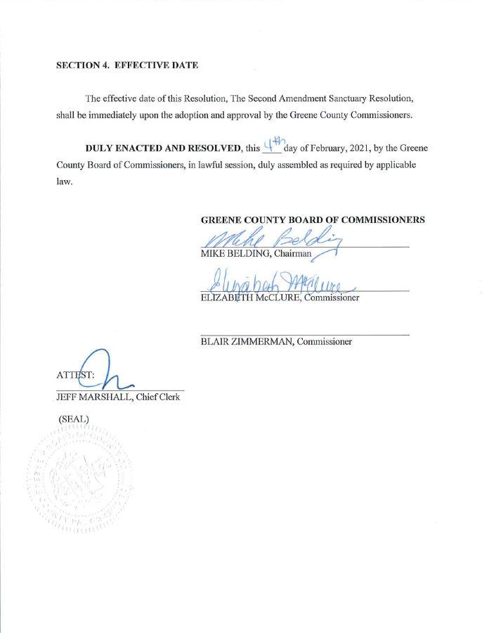 Greene County PA Second Amendment Sanctuary pg3