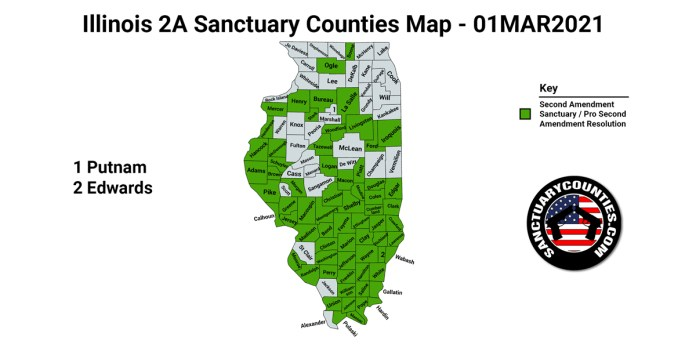 Illinois Second Amendment Sanctuary State Map