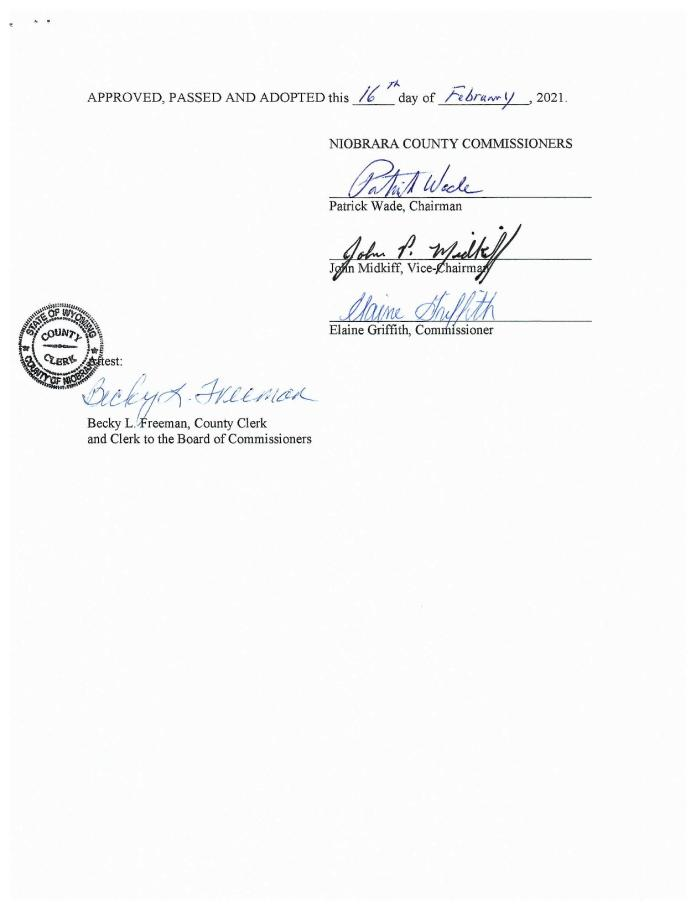 Niobrara County, Wyoming Second Amendment Sanctuary page 2