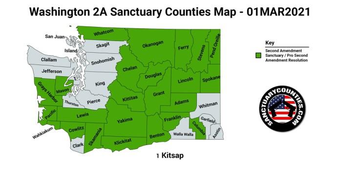Washington Second Amendment Sanctuary State Map