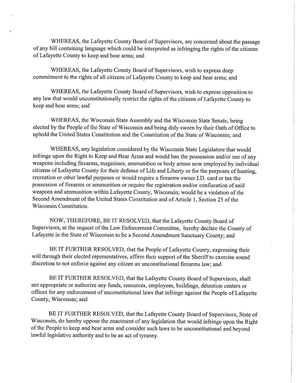 Lafayette County Second Amendment Sanctuary Resolution PG - 2