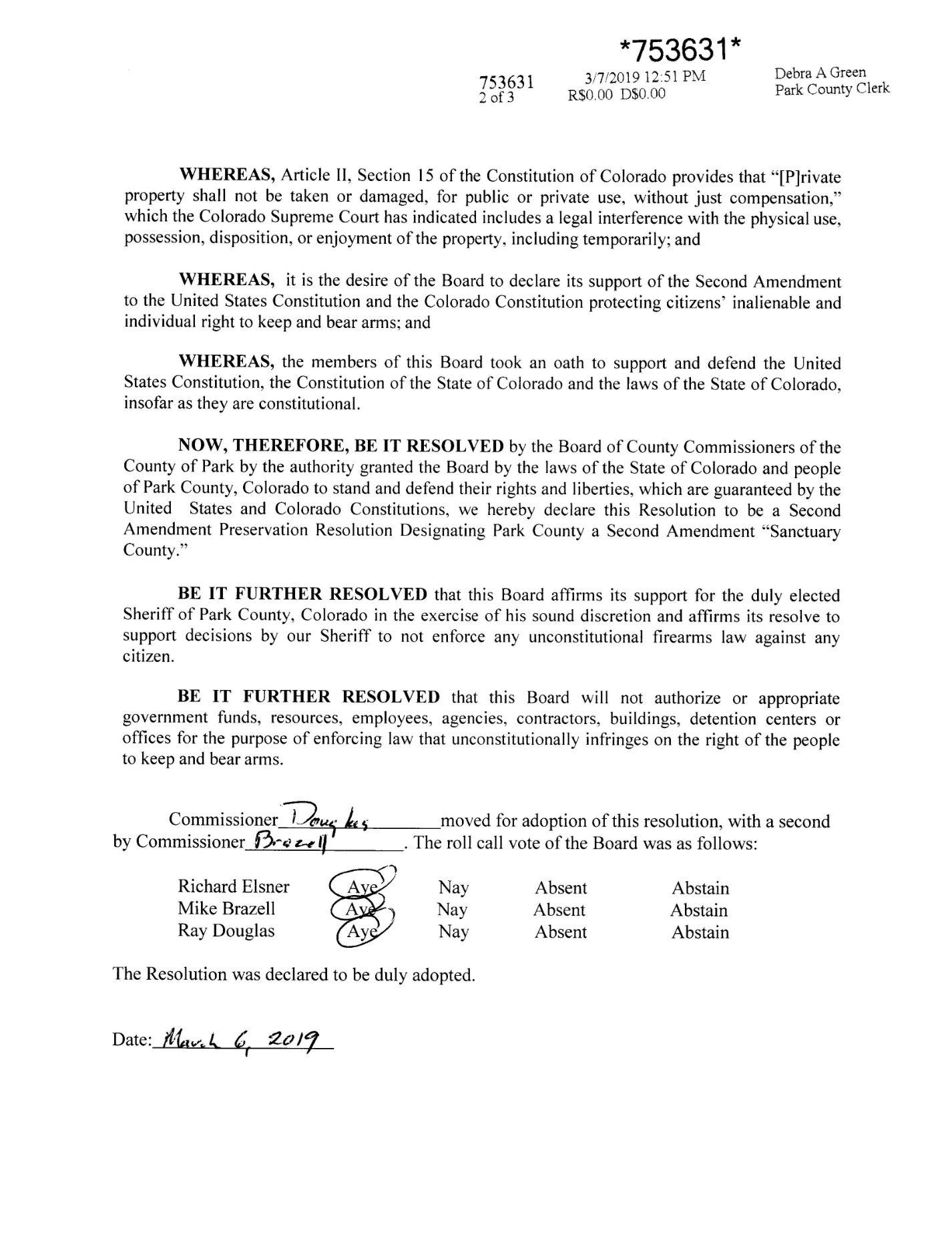 19-15 Declaring Park County Second Amendment Sanctuary County_Page_2