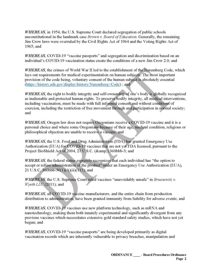 Yamhill County, OR Vaccine Passport Sanctuary Draft Page 2