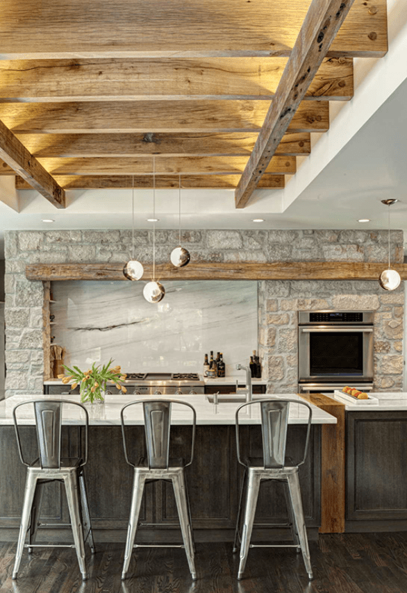 The 15 Most Beautiful Modern Farmhouse Kitchens on ... on Farmhouse Rustic Kitchen  id=15366