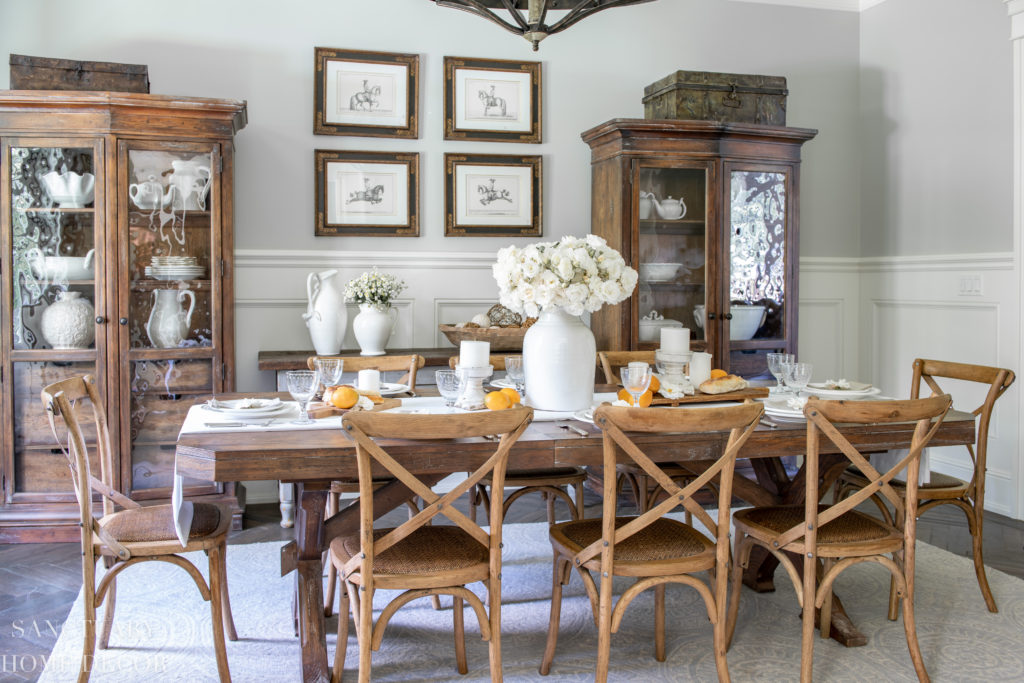 Summer Dining Room Update: A Fresh White Table Setting ... on Farmhouse Dining Room Curtains  id=92438
