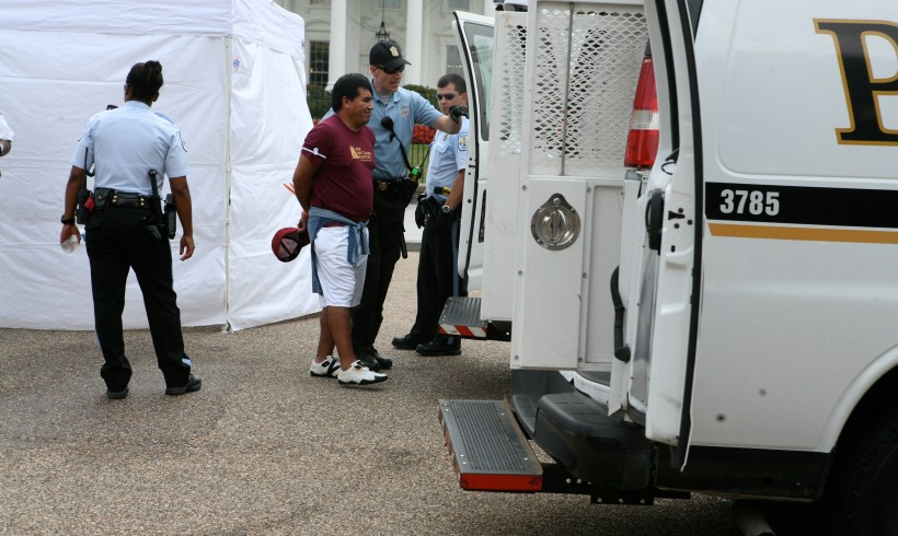 9 NSM members arrested in civil disobedience for immigration reform and an end to deportations