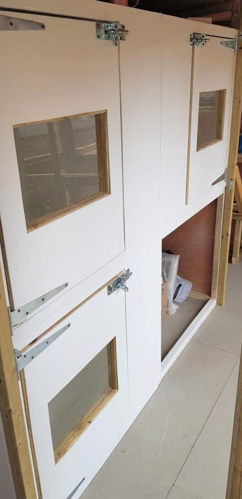 Bedrooms in cattery made by Sanctuary SOS