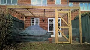 Cat cage for garden