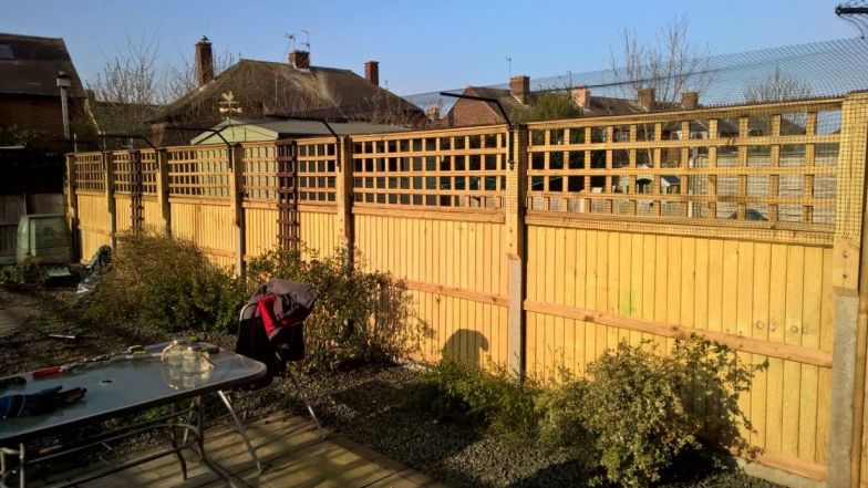 cat proof fencing fitted to trellis