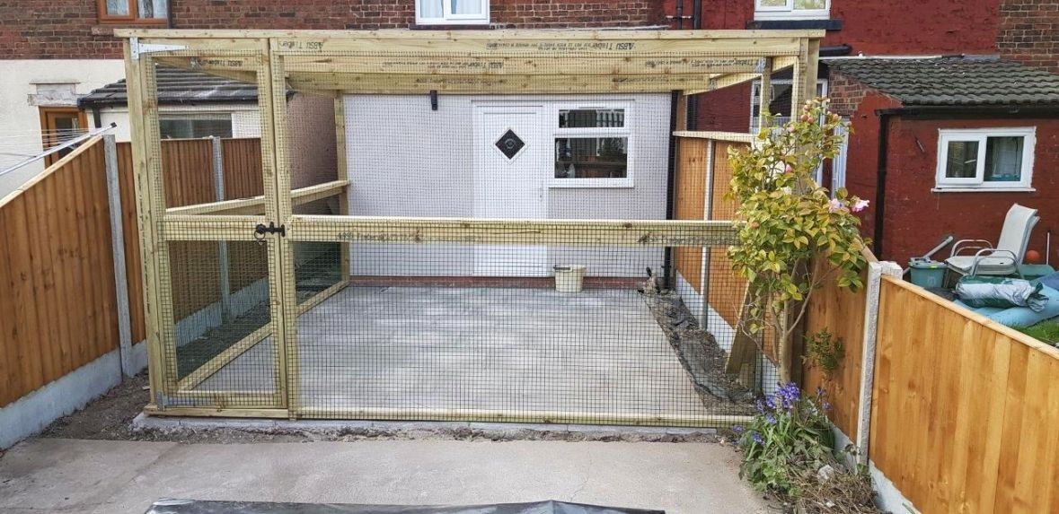 Catio attached to house