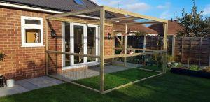 Garden catio covering patio doors