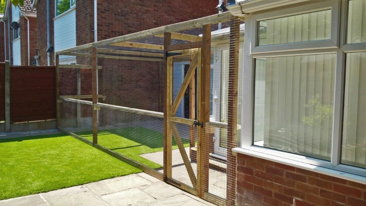 Large catio attached to house
