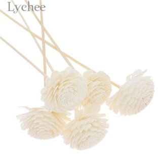 Lychee 5pcs Daisy Flower Rattan Reeds Fragrance Diffuser Non-fire Replacement Refill Sticks Home