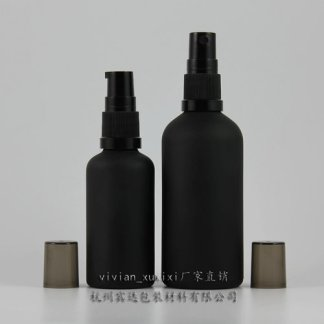 Glass Bottle-Black Frosted-10x100mls-Outer Cap