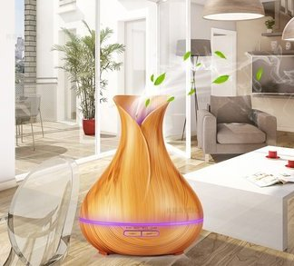 Diffuser-300ml Essential Oil-wood Grain-Ultrasonic Aroma Cool Mist