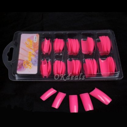 False Nails-Red-100Pieces-French Nail Tips