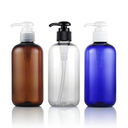 Plastic Bottle-PET-10x250mls-Blue-Clear-Amber