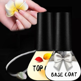 Beateal 2pcs/lot Nail Polish Top Base Coat Nail Gel Set Gel Varnish Enamel Permanent Base Coat Top