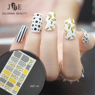 Nail Decal-1 Sheet-3D-Leaf Feather