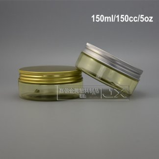 Plastic Jar-Yellow-Gold Screw Cap-15Piecesx150gms