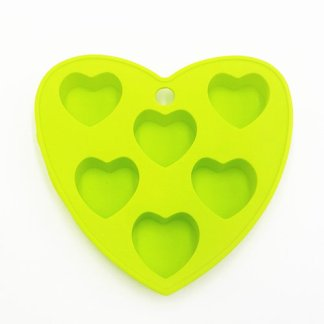 Silicone Mould-6 Hearts-IPiece-3D