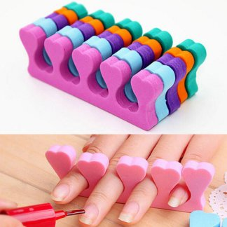 1 pair Soft Sponge Nails Toes Seperator Nail Art Decoration Tools Painting Finger Care Manicure