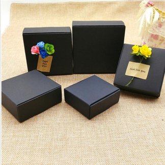 White/Black/Kraft box for packaging 25pcs/lot Brown handmade soap paper boxes/ - 95x95x