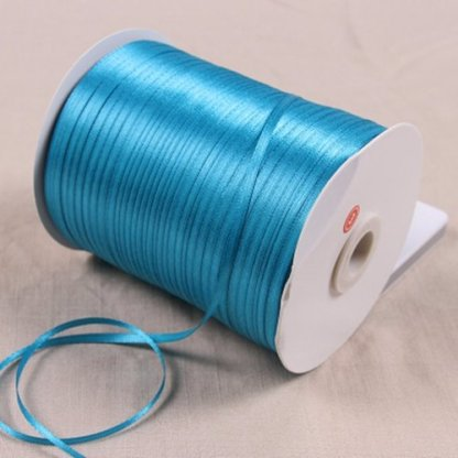 1/8″ 3mm Satin Ribbon for packing and bow & Garment Accessories 10y/lot 47 Blue