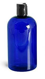 5x250ml PET Plastic Bottle-Black Pump-Dark Blue-Dark Green