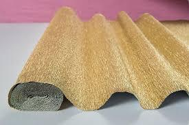 Gold or Silver Crepe Paper - ideal for crafts & wrapping 250cm x 50cm