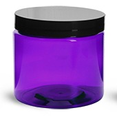 Plastic Jar-PET Plastic-Purple-3x250mls-8oz