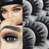 BEST 5/10 Pairs False Eyelashes THICK LONG WISPY Strip Fake Lashes WSP14 Make Up