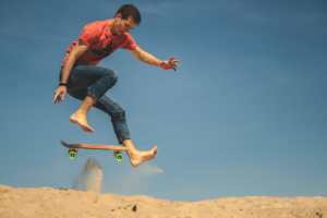 Snowboards and other boards you may (not) use on sand dunes