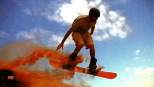 Jumping with a sandboard