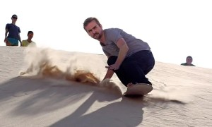 Sand Surfing and Sledding in Texas