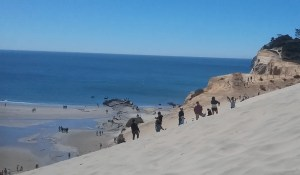 Sandboarding near Pacific City, Oregon