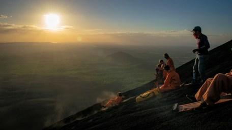 Volcano Sledding in Cerro Negro, Nicaragua
