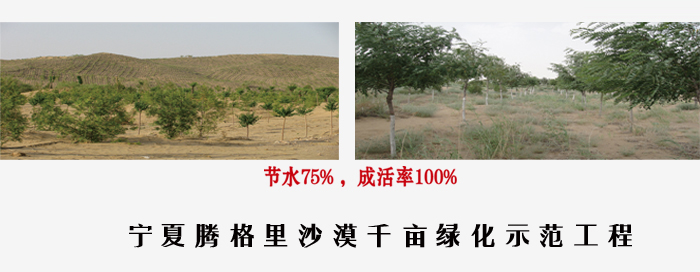 Breathable anti-seepage sand used for desert greening